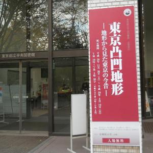 海面が20m上昇すると東京はどうなる?都立中央図書館『東京凸凹地形』開催中