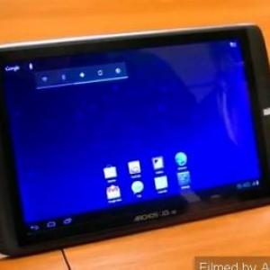 Archos G9タブレットを使ったAndroid 4.0のデモ映像