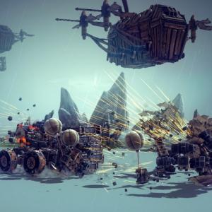 STEAMセール情報:自分オリジナル攻城兵器を作るゲーム「Besiege(ビシージ)」が30%オフ