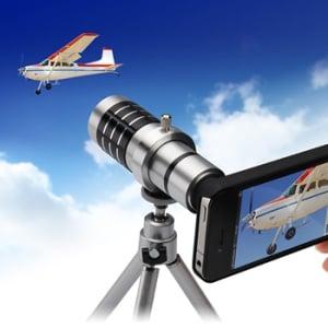 『iPhone 4/4S』のカメラで光学12倍ズーム撮影できるカメラキット『400-CAM009』