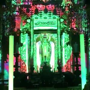 【動画】プロジェクター投影&舞台照明で極楽浄土を表現!? 「テクノ法要」実践の福井・照恩寺がクラウドファンディング