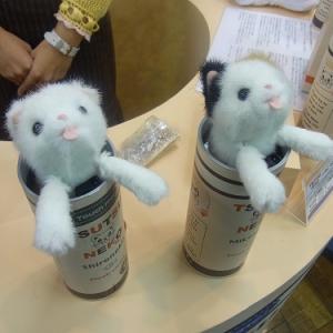 【タカラトミー商談会】筒に入ったネコとたわむれる『つつねこ』