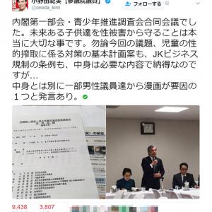 自民党・小野田紀美参議院議員が「犯罪の要因の一つが漫画」との発言に異議 「もっと党内に味方がほしい」