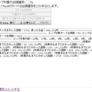 ソーシャルゲームの「ガチャ」の怖さがわかる『カードコンプシミュレーター』 46万円でコンプ!