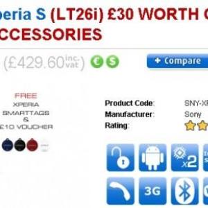 英CloveでXperia Sを購入するとNFCタグ「SmartTags」と£10分のアクセサリークーポンが付属