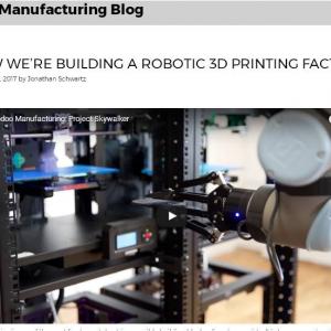 これが製造業の未来図か ニューヨークのロボットによる全自動3Dプリンター工場