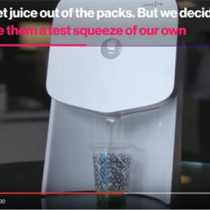 【動画】1億2000万ドルの資金を集めて開発された399ドルのジュースマシンが無能すぎると炎上