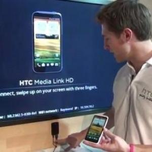 MWC 2012:HTC、スマートフォンの画面や動画などをテレビにワイヤレスで表示することを可能にするアダプタ製品「Media Link HD」を発表(動画あり)