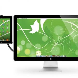 『iPad 2』を机やモニターに! フレキシブルアーム付きスタンド『Hovebar for iPad2』