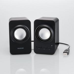 USBケーブル1本で電源も音声もつながるUSBステレオスピーカーをエレコムが発売