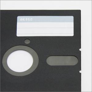 懐かしの5.25インチフロッピーディスクをそのままカバーにしたノートブック