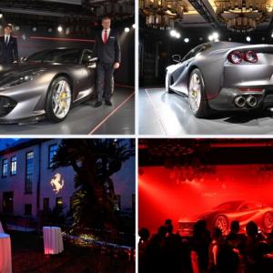 フェラーリ・ジャパン、V12 モデルの『Ferrari 812 Superfast』を披露