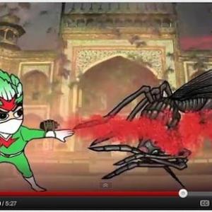 韓国の不思議なアニメキャラ「キムチ戦士」が話題! 大根キムチ弾を発射し悪党を退治!
