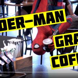"""【ドッキリ動画】スパイダーマンがスタバに現れたら……? 最後には""""あの御大""""もカメオ出演"""