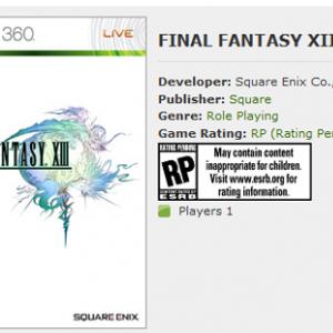 日本版Xbox360にまさかの『FF13』登場! 日本発売決定の前兆か!?