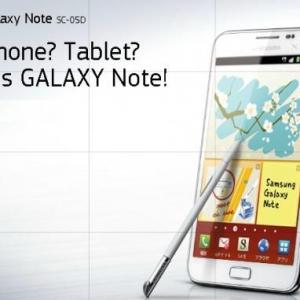 「Galaxy Note SC-05D」が本日発売