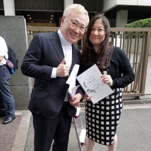 高須克弥院長「あっ、ガジェット通信さん!」 西原理恵子先生が法廷画家デビューの東京地裁に行ってきた