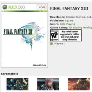 Xbox360版『FF13』のディスク枚数「バカみたいに大量にはしない」