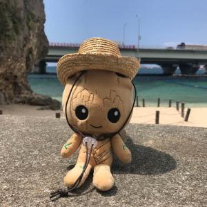 【ぬい撮り】「ベビー・グルートと日本の夏休み」沖縄旅行編