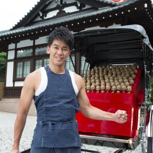 100体のベビー・グルートがあなたの街にやってくる! 武井壮が人力車で日本のおもてなし