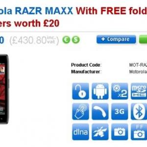 英国でMotorola RAZR MAXXの予約受付が開始、価格は£359程度