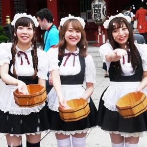 「第二回 神田明神納涼祭り」が開催! 秋葉原界隈のメイド有志による打ち水も