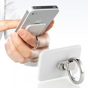 スマートフォンを指一本で支える スタンドにもなる! 指輪型ホルダー『バンカーリング2』