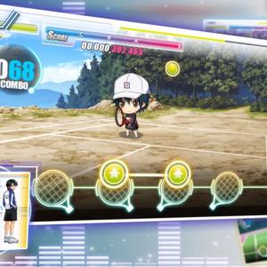 テニプリ初のリズムゲーム『新テニスの王子様 RisingBeat』PV第2弾公開 プレイ画面でテニスをするちびキャラがかわいい!