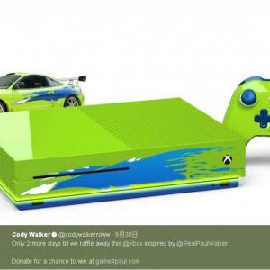 故ポール・ウォーカー仕様の『Xbox One S』 ポールの弟コディやヴィン・ディーゼルも大喜び