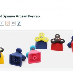 キーボード用ハンドスピナー『Hammer Fidget Spinner Artisan Keycap』 意外とクセになりそう!?