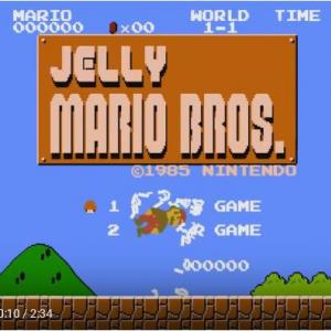 動画:ゼリー状のマリオで無重力プレイ