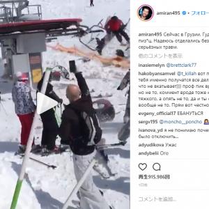恐怖!!  暴走したスキーリフトが次々に乗客を投げ散らかす事件が発生!  遠心力で乗客が吹っ飛びまくり