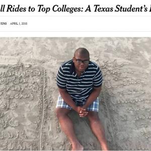 ハーバードやスタンフォードなどアメリカの名門大学20校全てに合格したテキサス州の高校生 しかも学費全額免除