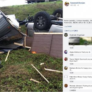 動画:竜巻に車ごと吹っ飛ばされるとこうなる 撮影者は無事生還