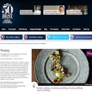 世界のベストレストラン50、首位はデンマークの「ノーマ」…日本2店で韓国0店