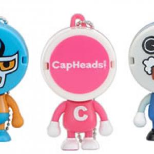 """ペットボトルのキャップが""""顔""""のフィギュア『CapHeads』"""