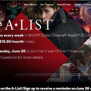 """アメリカの大手映画館チェーン""""AMCシアターズ""""が月額制サービスを発表 先行する『MoviePass』の批判はやぶ蛇に?"""