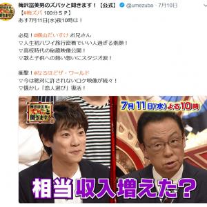 NHKはギャラが安いは本当!?梅沢富美男「紅白は7万円」だいすけお兄さん「民放はお弁当が出る」