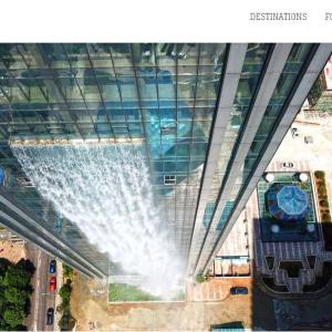 中国:水浸しの高層ビルかと思ったら人工の滝だって