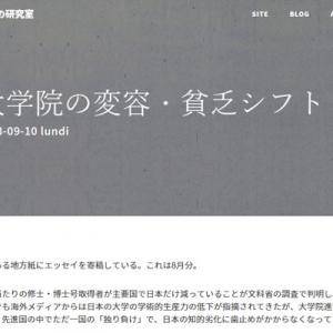 大学院の変容・貧乏シフト(内田樹の研究室)