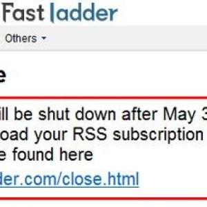 『livedoor Reader』の英語版『Fastladder』が5月31日をもってサービス終了