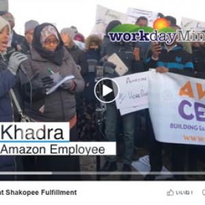 Amazon倉庫で働くイスラム教徒が礼拝時間の取れない「不公平」な勤務体制に抗議デモ