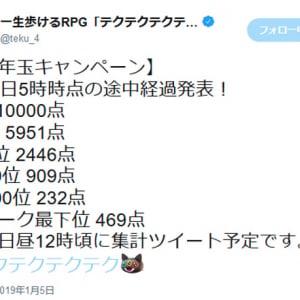 一部のユーザーが激重でプレイ困難に? 総額1000万円お年玉キャンペーン中の「テクテクテクテク」
