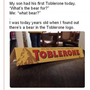 『トブラローネ(TOBLERONE)』のロゴに熊が隠れてるって知ってた?