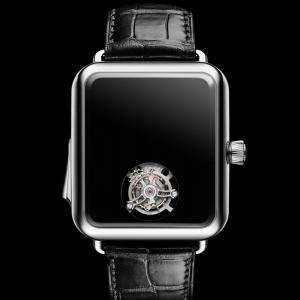 """別名""""Apple Watchのフリした超高級時計"""" 音でしか時間がわからない『スイス・アルプ・ウォッチ コンセプト ブラック』"""