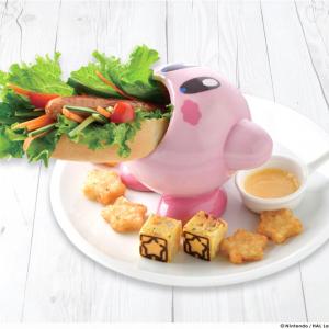 カービィがホットドッグを吸い込む!?『KIRBY CAFÉ(カービィカフェ)』第2弾メニュー登場 カップは購入可能!