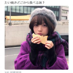 「たい焼きどこから食べる派?」 橋本環奈さんの可愛すぎる画像つきツイートに「いいね!」30万超の大反響