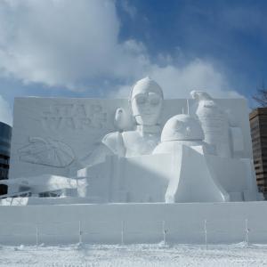 動画:もうすぐ終了! 大雪像「白いスター・ウォーズ2019」inさっぽろ雪まつりの様子