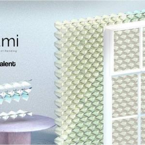 太陽光発電と折り紙の技術を合体させたブラインド『ソルガミ(Solgami)』 『LEXUS DESIGN AWARD 2019』のファイナリスト