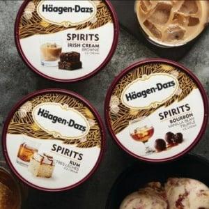 アメリカのハーゲンダッツが『Spirits Collection』を発表 7種類のアルコール入りアイスです